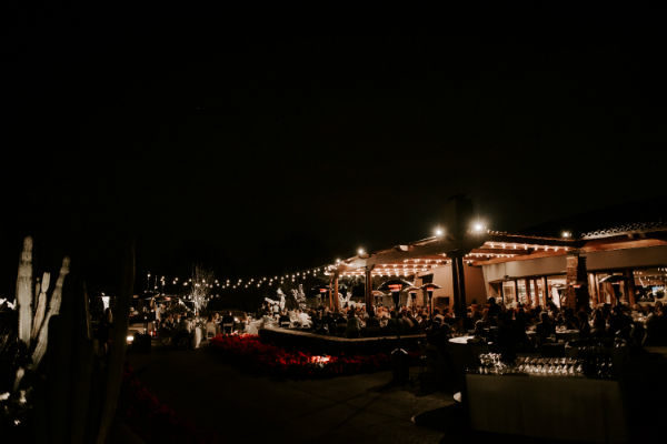 Night Time Wedding Patio 600x401