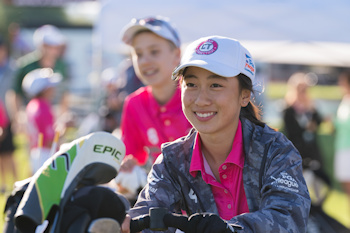 SCOTTSDALE, AZ - OCTOBER 12: Annie Dai of Team Connecticut on the first hole at the Blue Course during Session One for the 2019 PGA Jr. League Championship presented by National Car Rental held at the Grayhawk Golf Club on October 12, 2019 in Scottsdale, Arizona. (Photo by Darren Carroll/PGA of America)